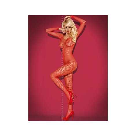 Bodystocking rouge Obsessive N109