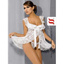 Nuisette blanche Julia + string