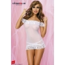 Nuisette blanche + string Amoresa